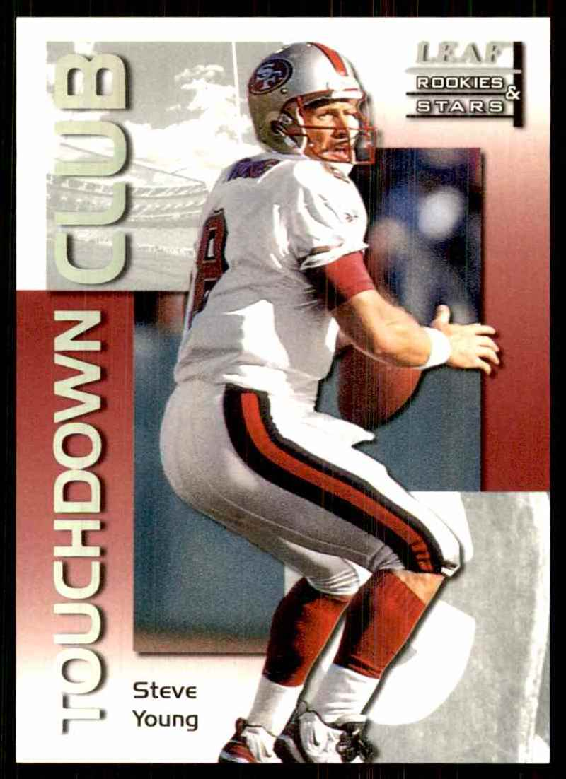 1998 Leaf Rookies & Stars Touchdown Club Steve Young #19 card front image