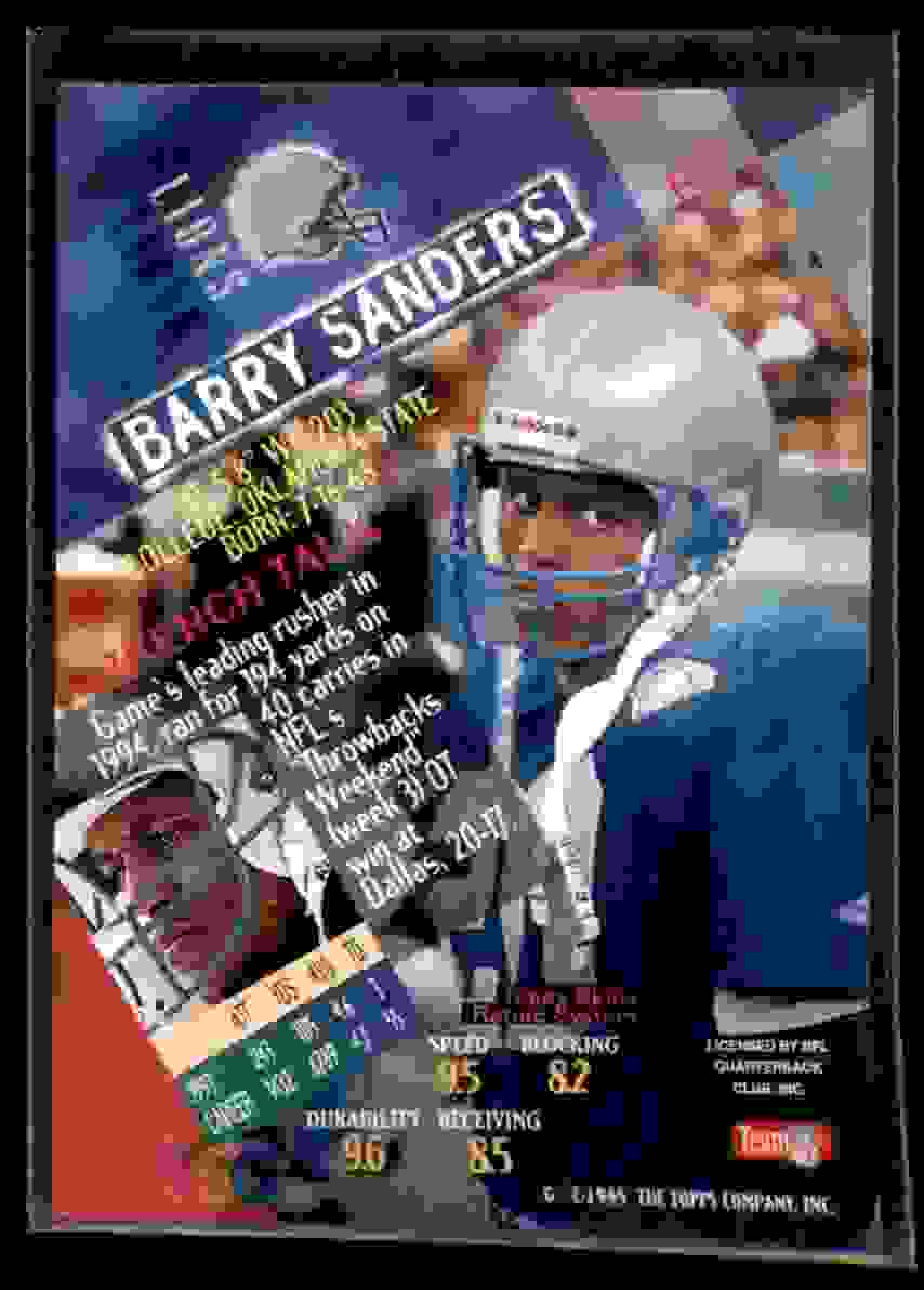 1994 Stadium Club Barry Sanders #580 card back image