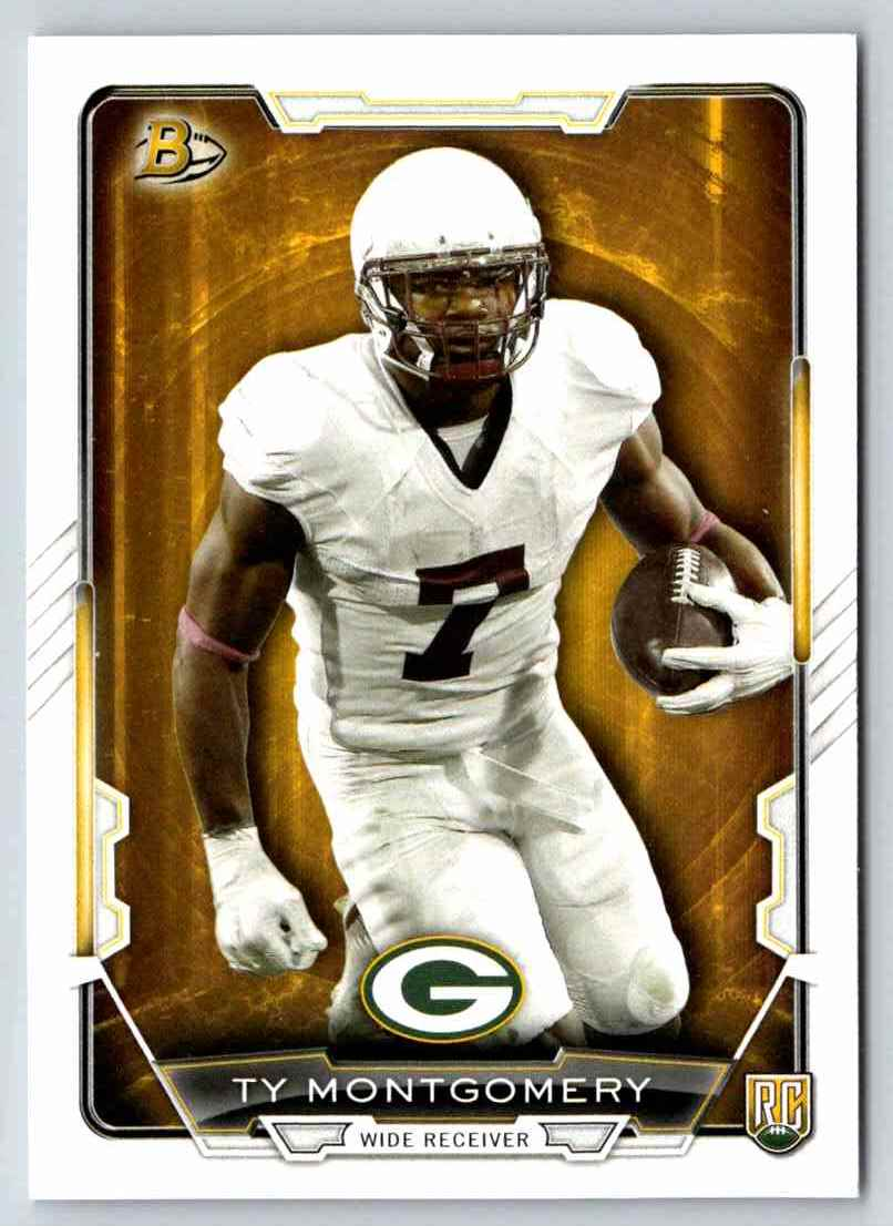 2015 Bowman Rookies Ty Montgomery #51 card front image