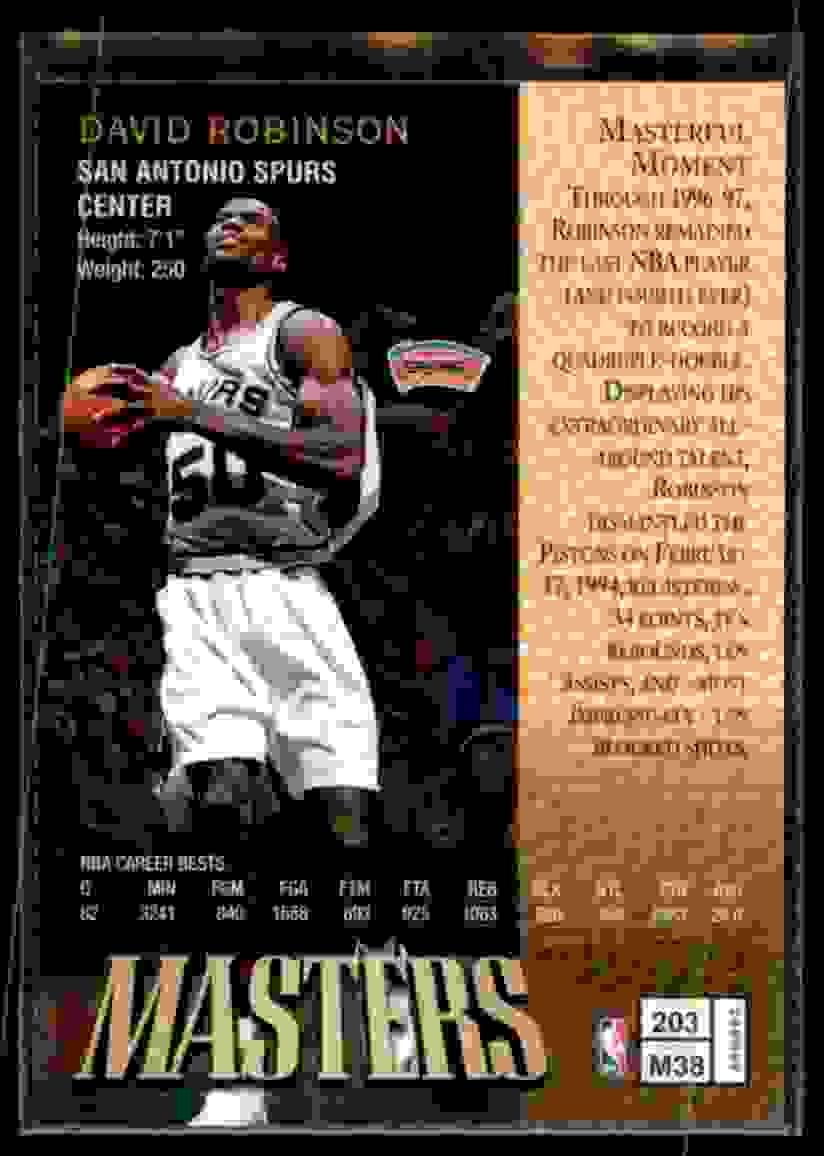 1997-98 Finest David Robinson B #203 card back image