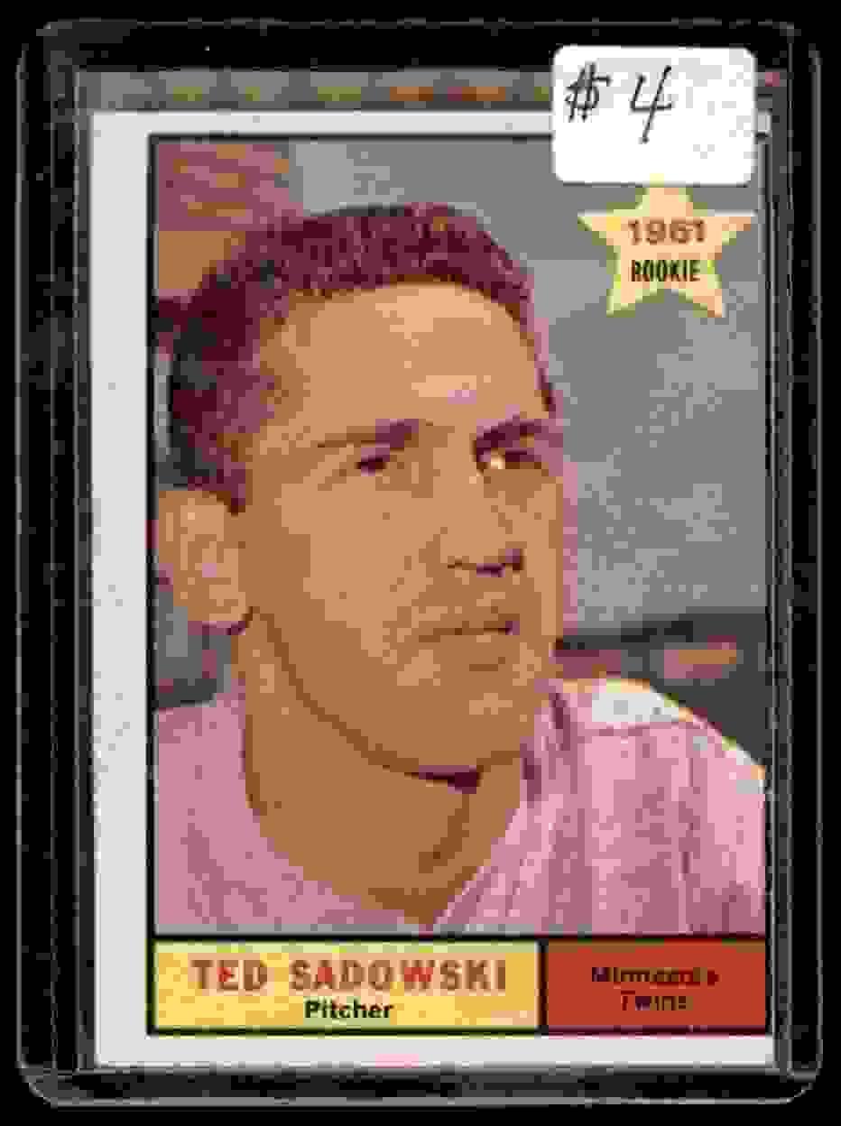 1961 Topps Ted Sadowski #254 card front image