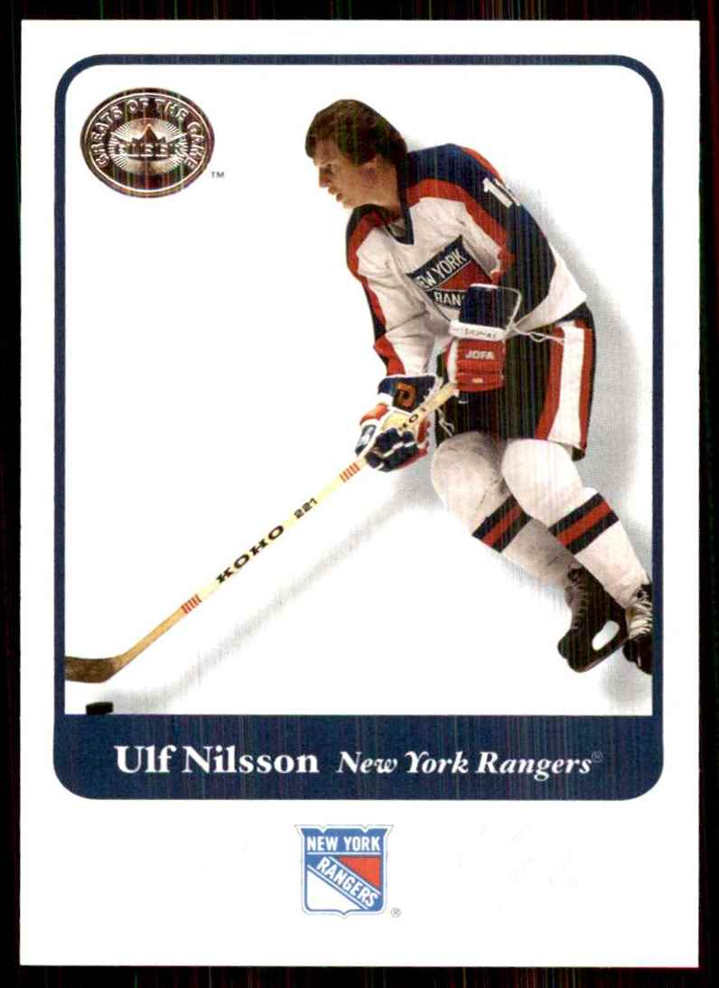 2001-02 Fleer Greats Of The Game Ulf Nilsson #26 card front image