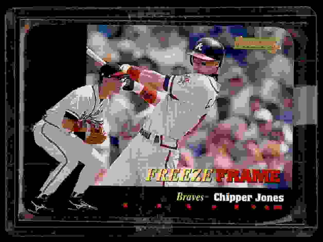 1996 Donruss Freeze Frame Chipper Jones #7 card front image