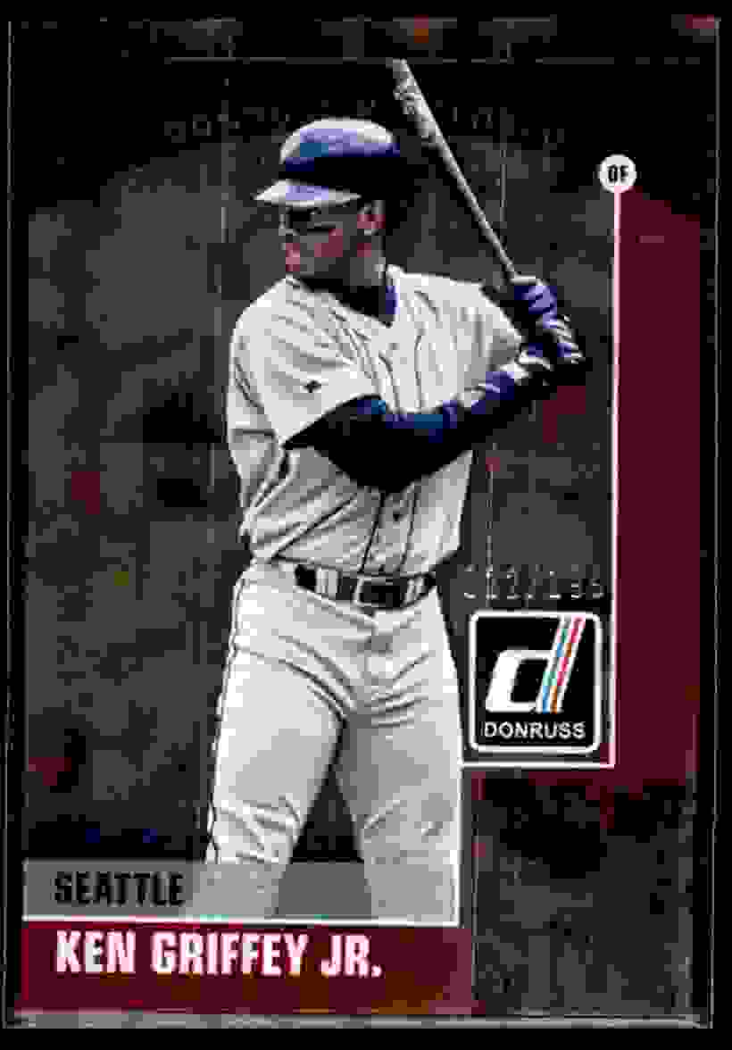 2015 Donruss Preferred Red Ken Griffey JR. #1 card front image