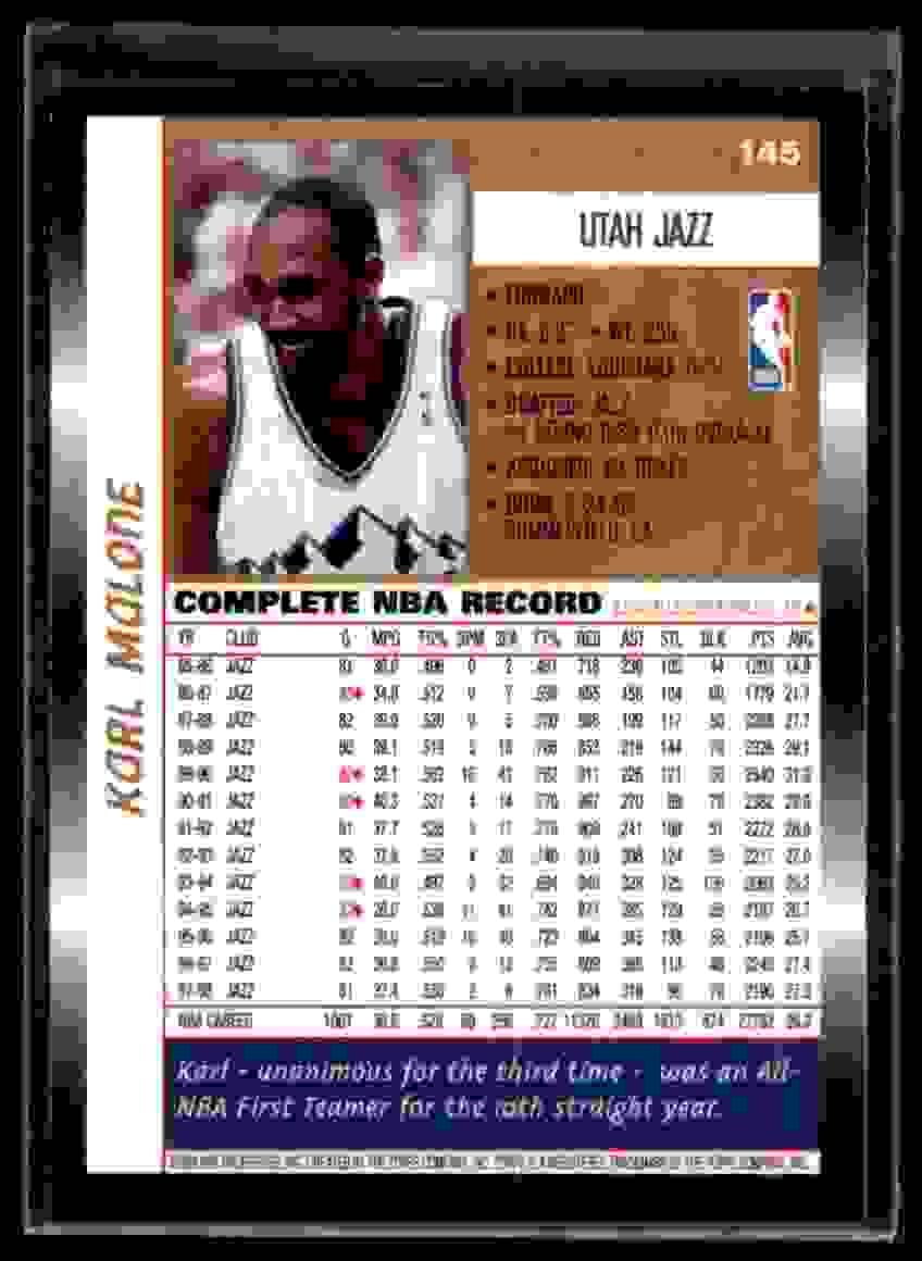 1998-99 Topps Karl Malone #145 card back image