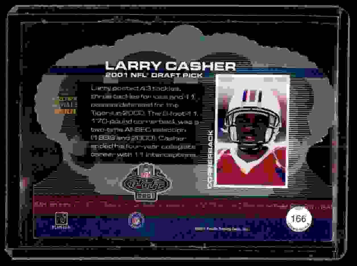 2001 Crown Royale Larry Casher #166 card back image