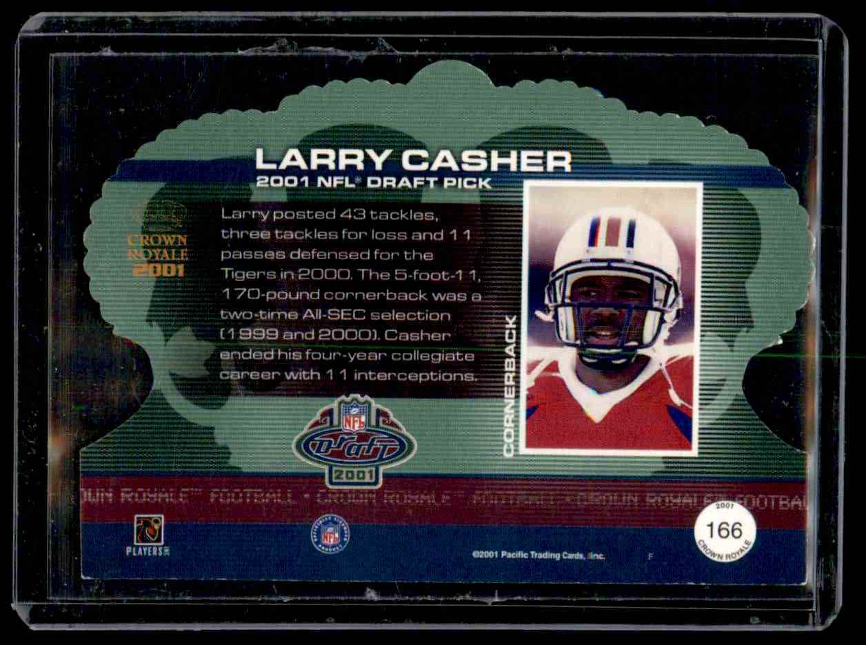 2001 Crown Royale Larry Casher #166 card back image