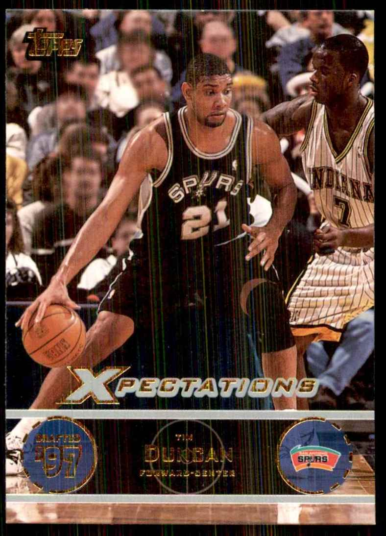 2001-02 Topps Xpectations Tim Duncan #40 card front image