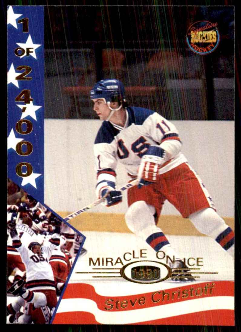 1995-96 Signature Rookies Miracle On Ice Steve Christoff #8 card front image