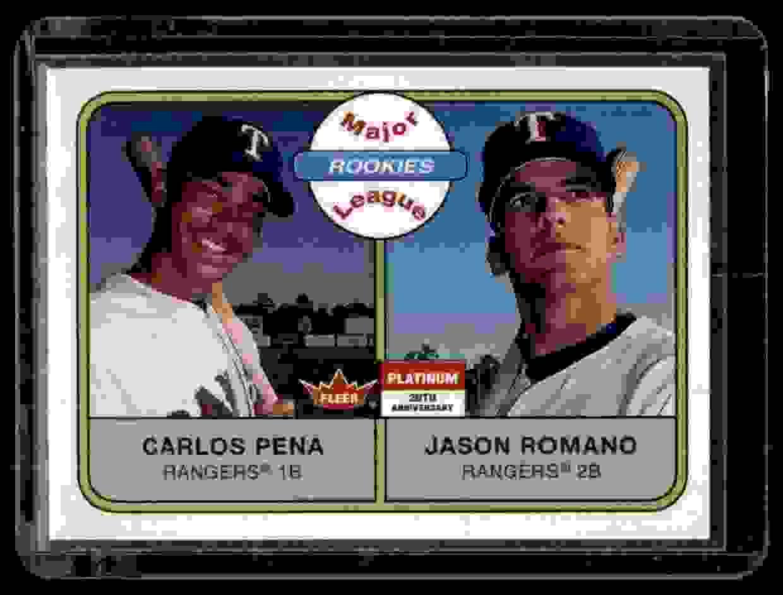 2001 Fleer Platinum Carlos Pena Jason Romano #274 card front image