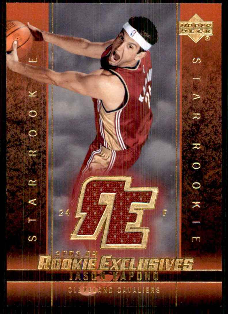 2003-04 Upper Deck Rookie Exclusives Jerseys Jason Kapono #J26 card front image