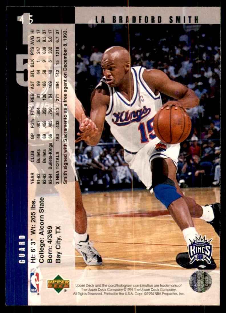 1994-95 Upper Deck LaBradford Smith #45 card back image