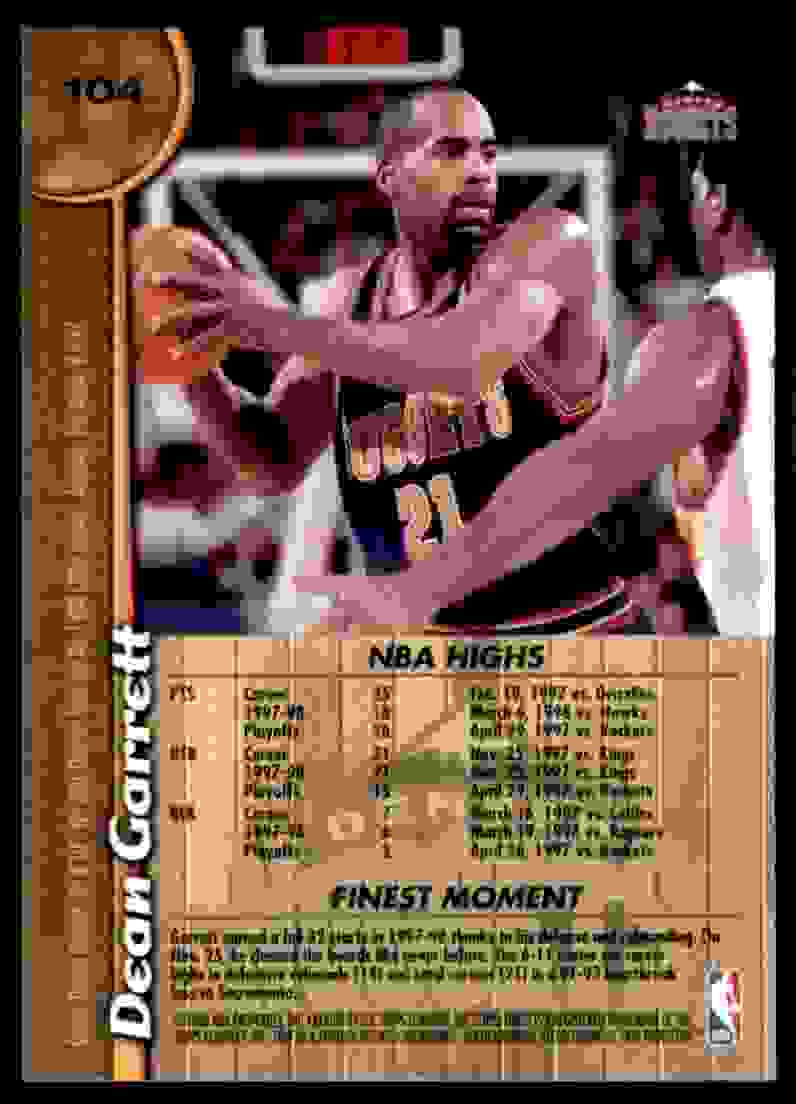 1998-99 Finest Dean Garrett #104 card back image