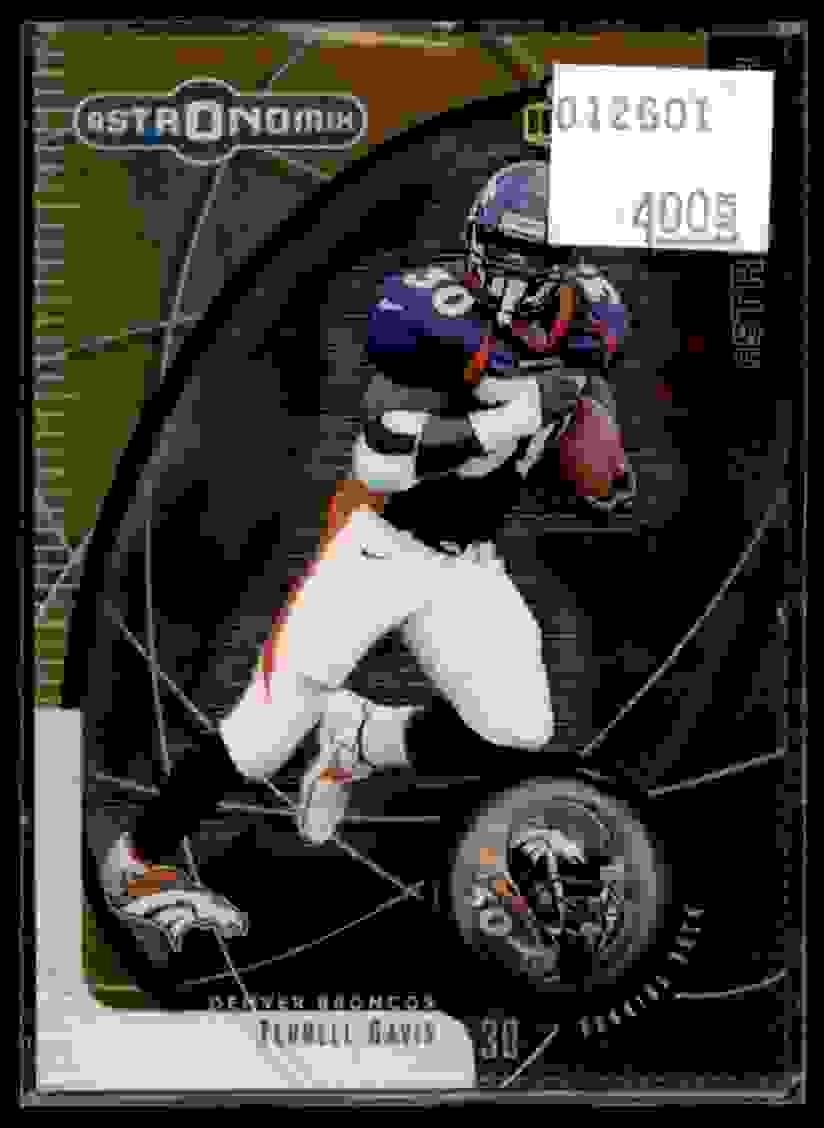1999 UD Ionix Astronomix Terrell Davis #A8 card front image