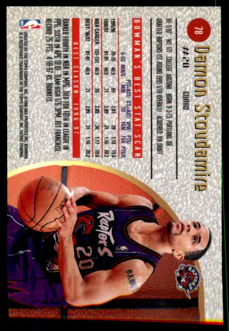 1997-98 Bowman's Best Damon Stoudamire #78 card back image