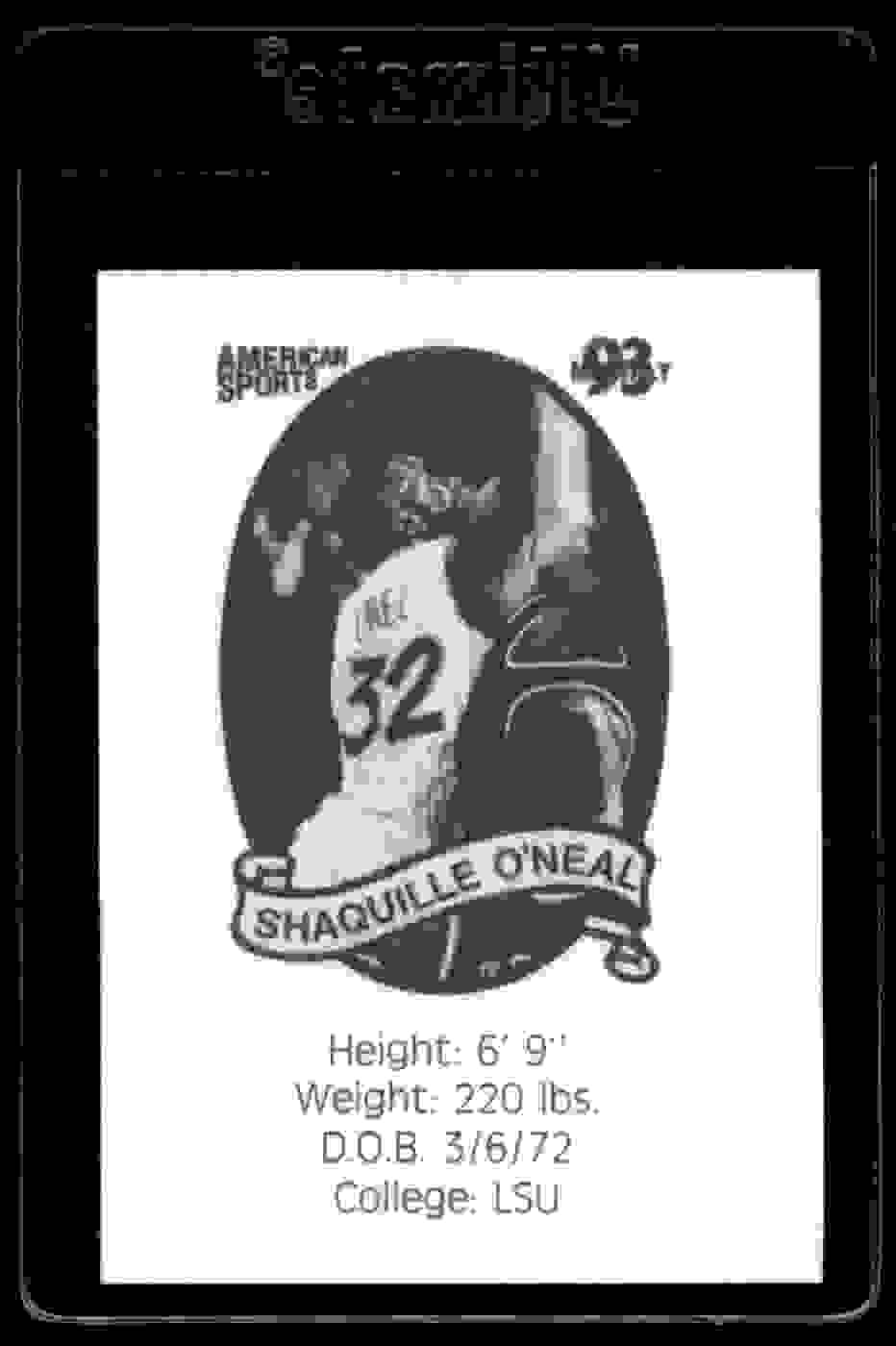 1993-94 American Sports Shaquille O'Neal #NNO card back image