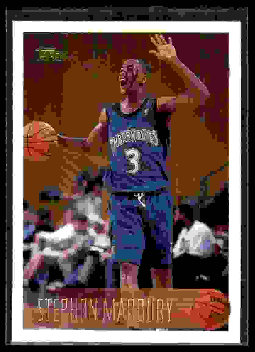 1996-97 Topps Stephon Marbury RC #177 card front image