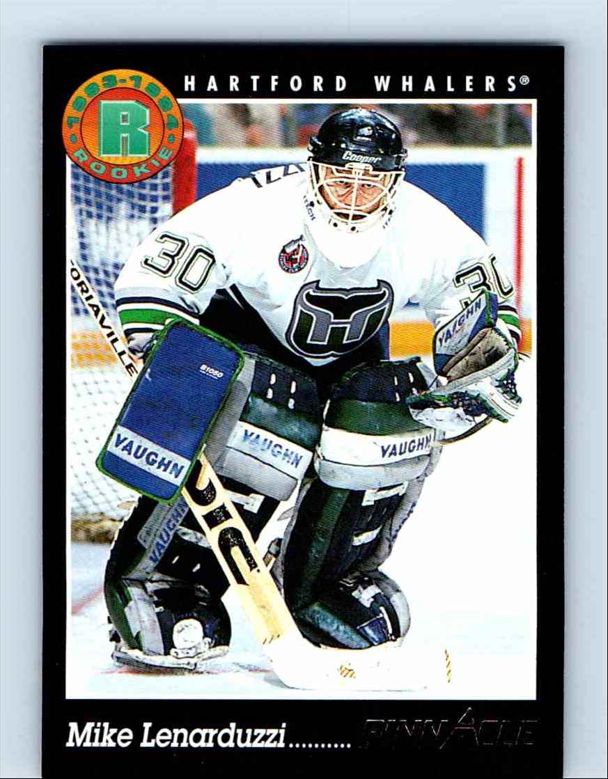 1993-94 Pinnacle Mike Lenarduzzi #207 card front image