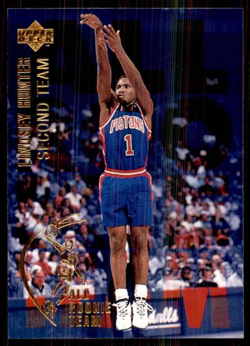 1994-95 Upper Deck Lindsey Hunter Art #10 card front image