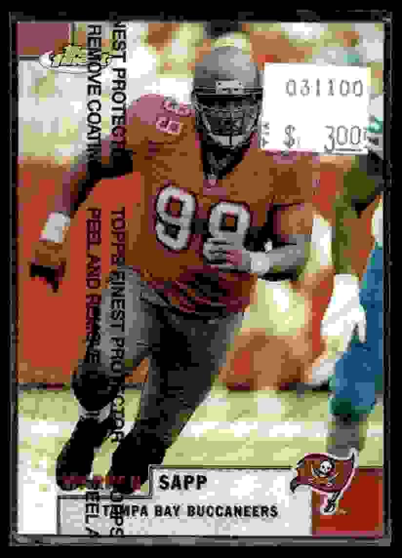 1999 Finest Refractor Warren Sapp #81 card front image