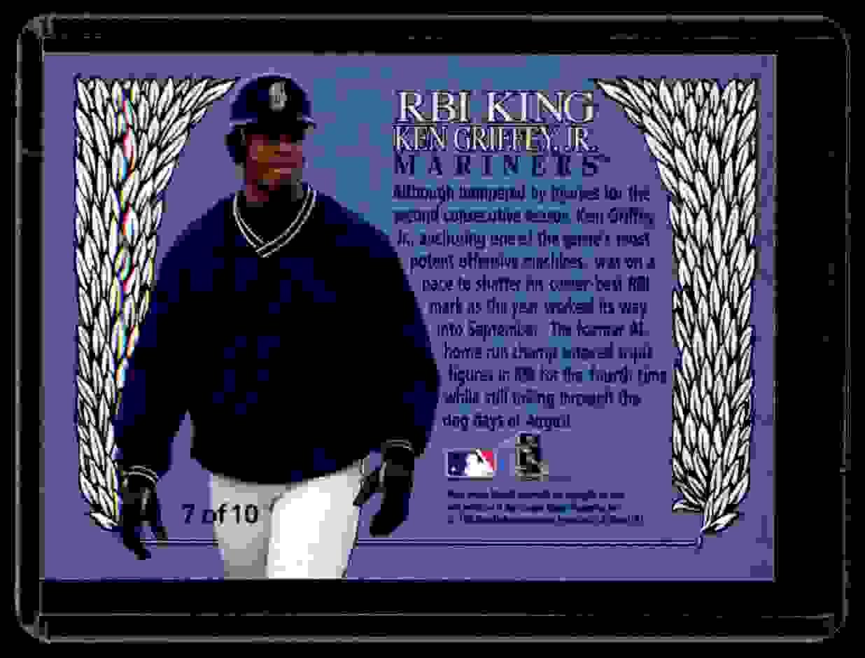1997 Ultra Rbi Kings Ken Griffey JR. #7 card back image