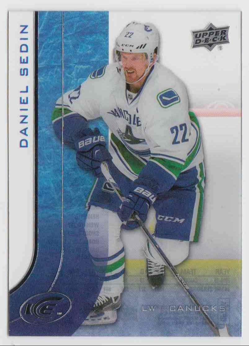 2015-16 Upper Deck Ice Daniel Sedin #18 card front image