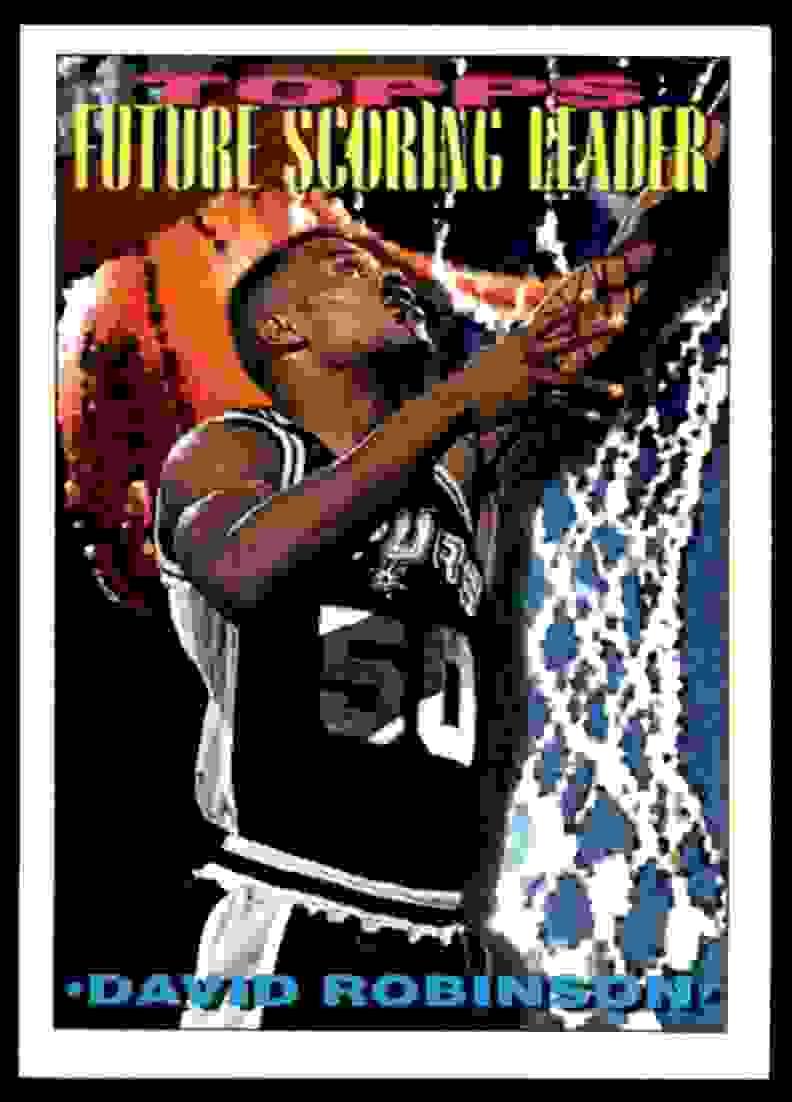 1993-94 Topps David Robinson #387 card front image
