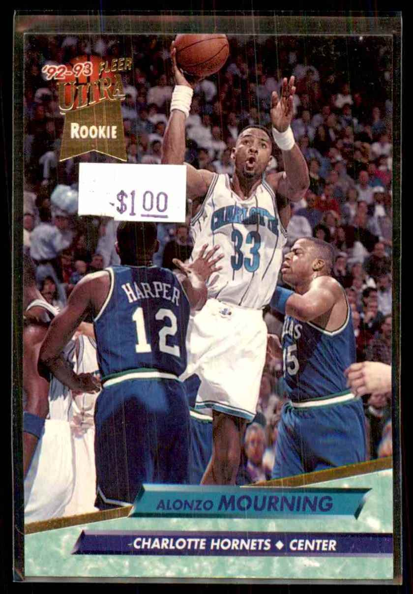1992-93 Ultra Alonzo Mourning #234 card front image
