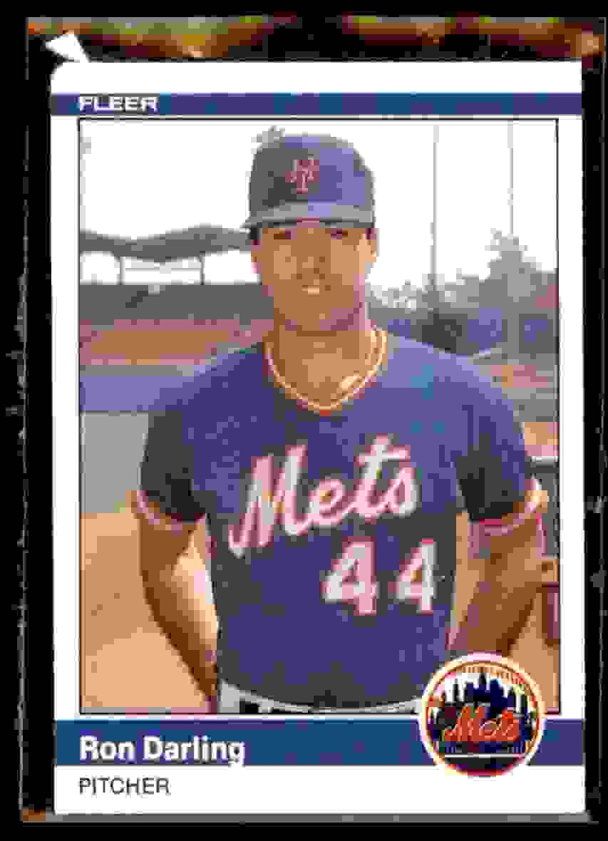 1984 Fleer Update Xrc Ron Darling #29 card front image