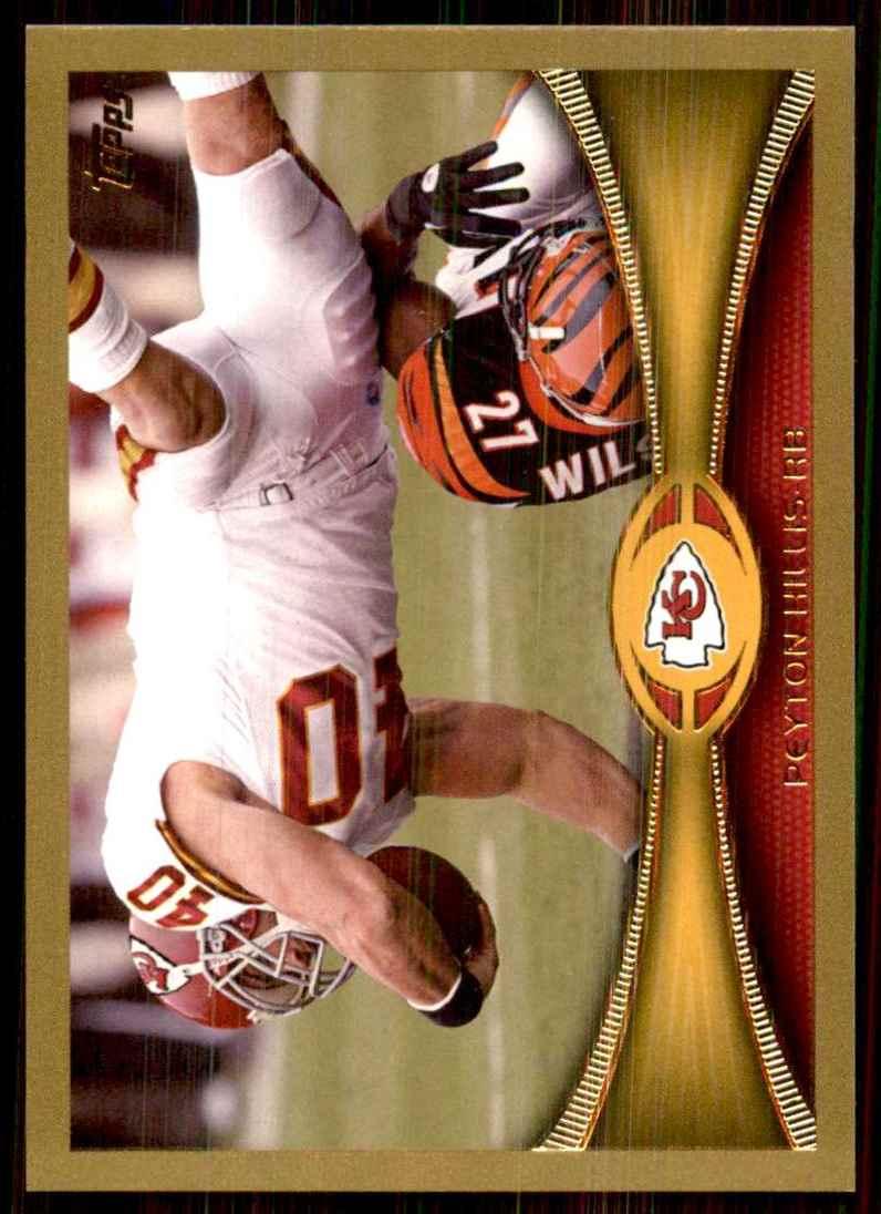 2012 Topps Gold Peyton Hillis #201 card front image