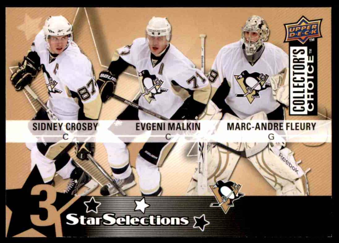2009-10 Upper Deck Collector's Choice Sidney Crosby  Evgeni Malkin  Marc-Andre Fleury #224 card front image