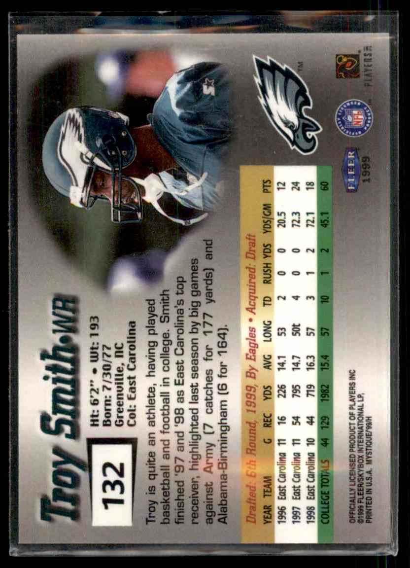 1999 Fleer Mystique Troy Smith #132 card back image