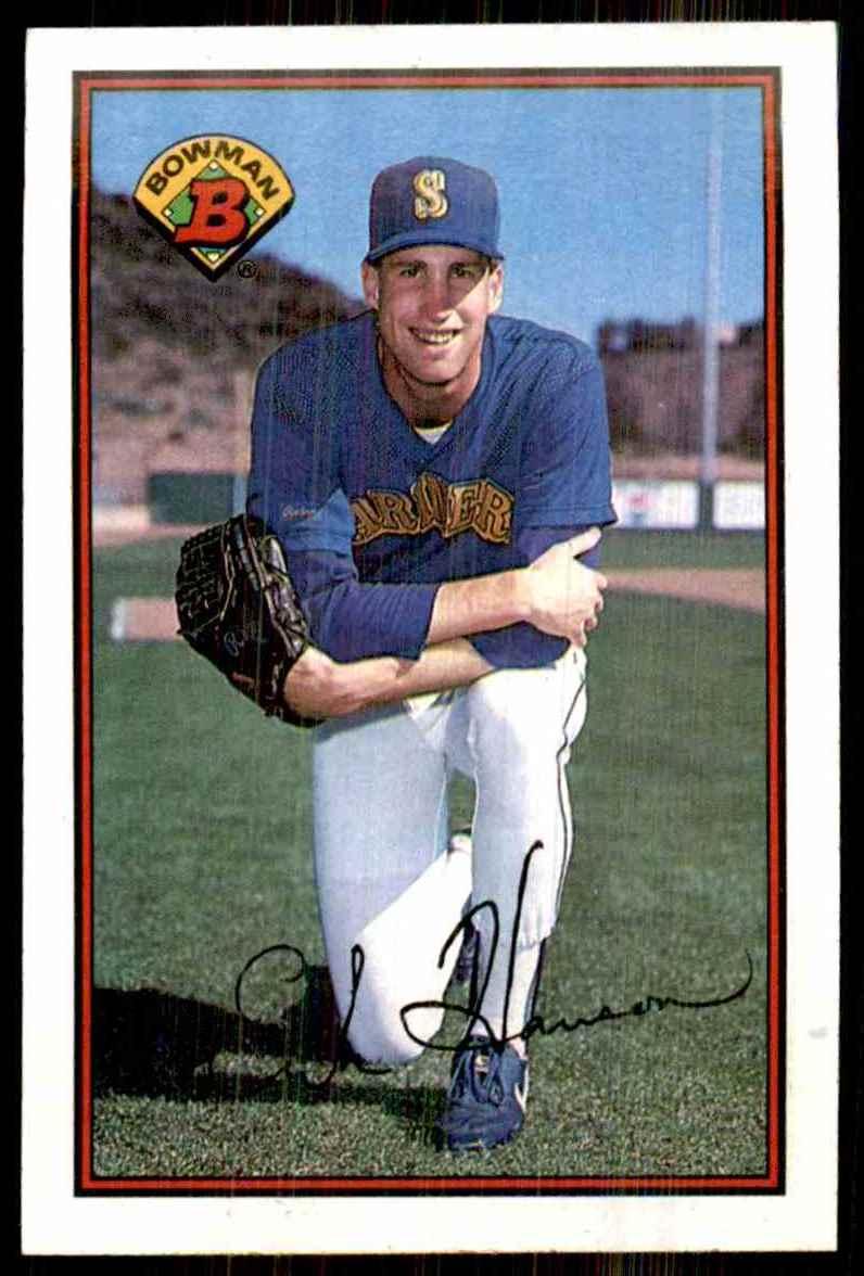1989 Bowman Erik Hanson RC #206 card front image