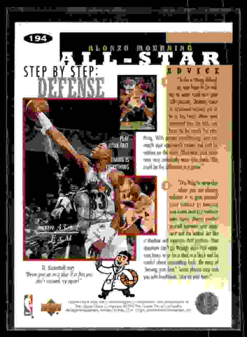 1994-95 Collector's Choice Alonzo Mourning #194 card back image