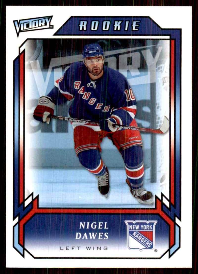 2006-07 Upper Deck Victory Nigel Dawes RC #291 card front image