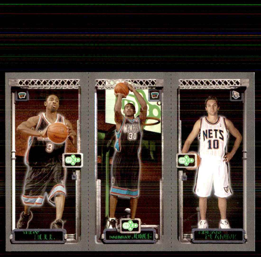2003-04 Topps Rookie Matrix Troy Bell 126 RC/Dahntay Jones 130 RC/Zoran Planinic 132 RC #BJP card front image