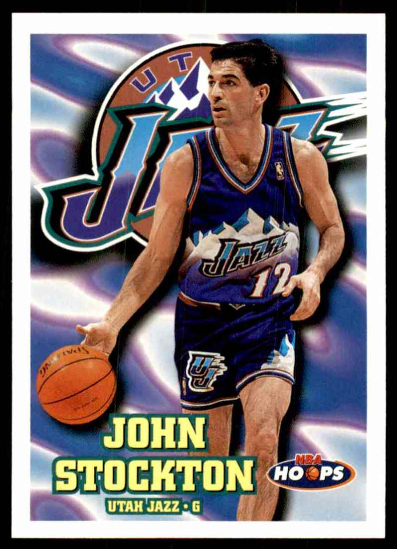 1997-98 Hoops John Stockton #153 card front image
