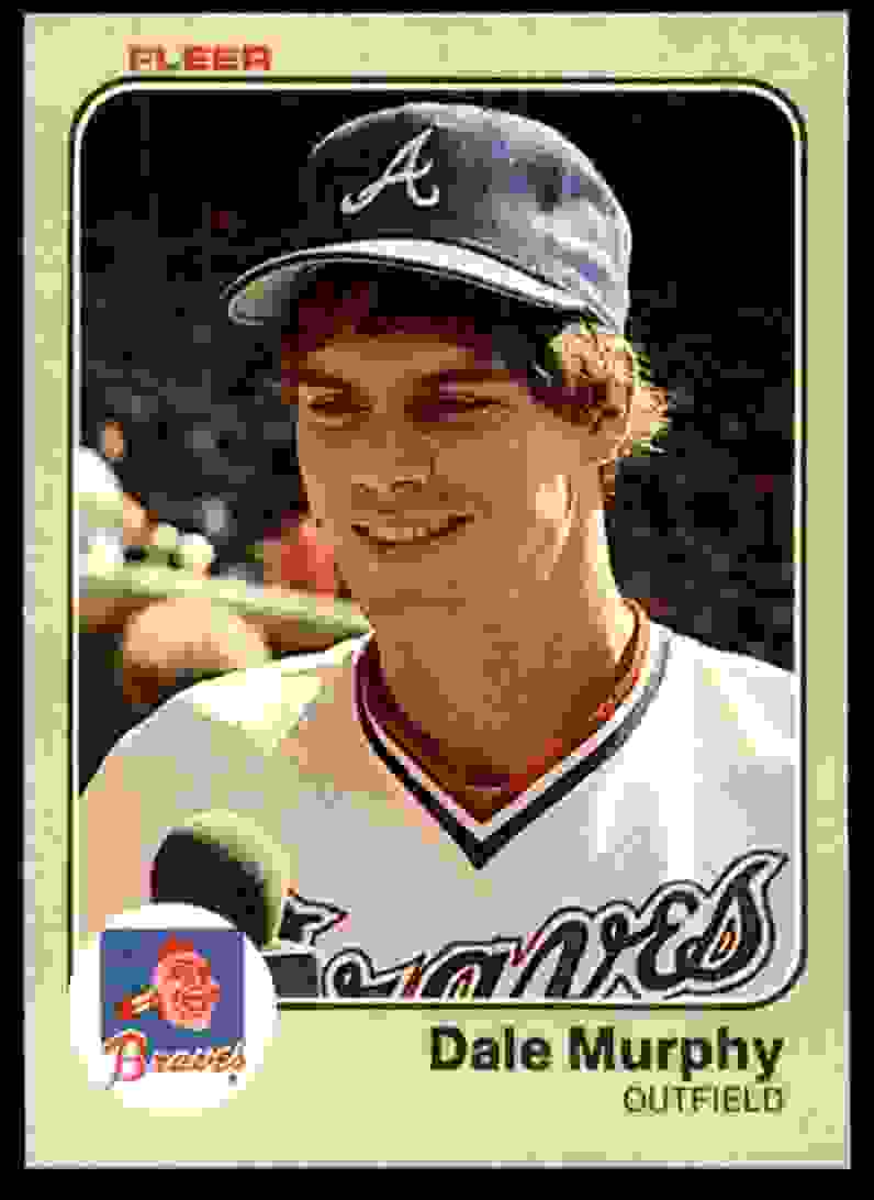 1983 Fleer Dale Murphy #142 card front image