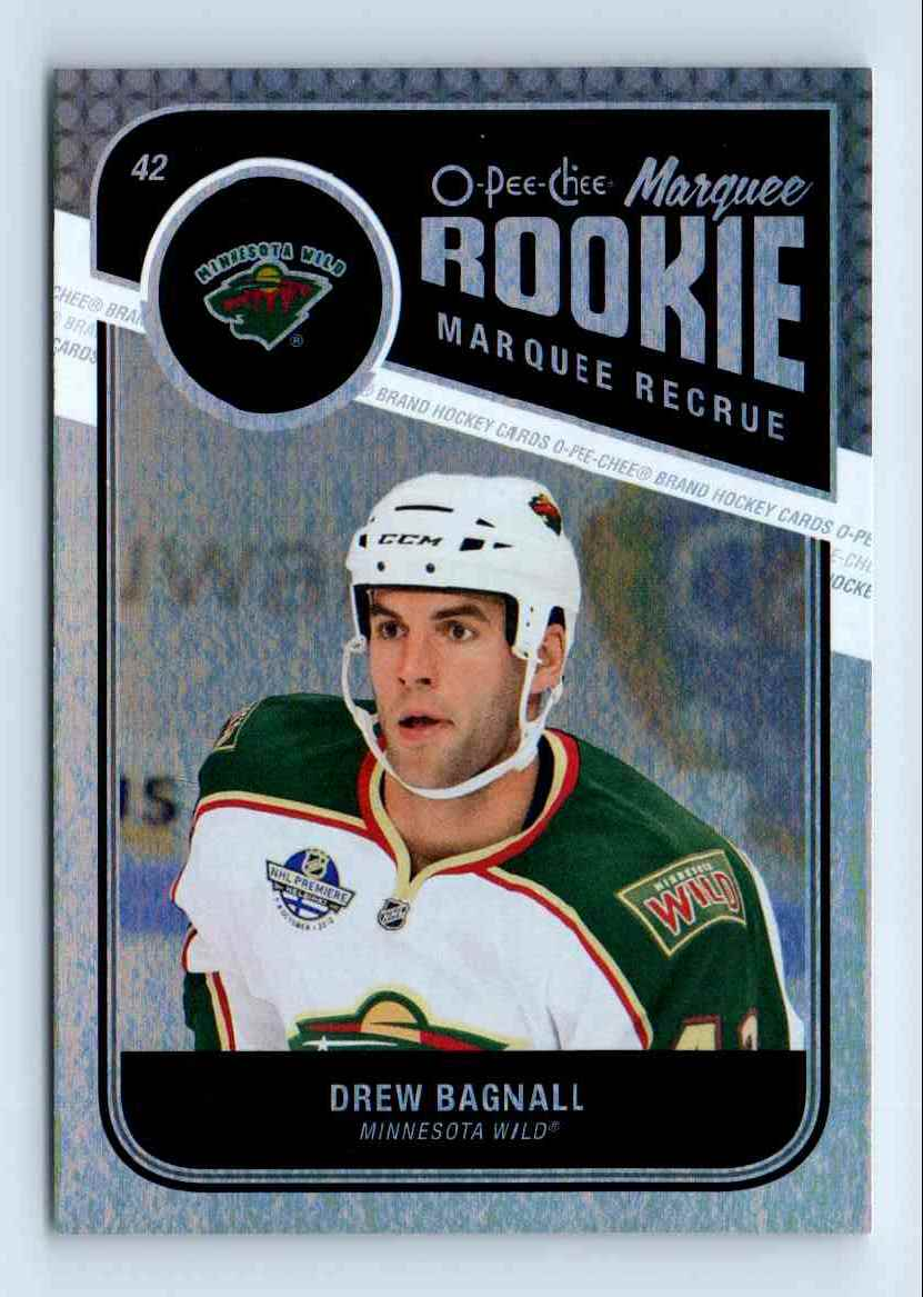 2011-12 O-Pee-Chee Marquee Rookie Drew Bagnall #581 card front image
