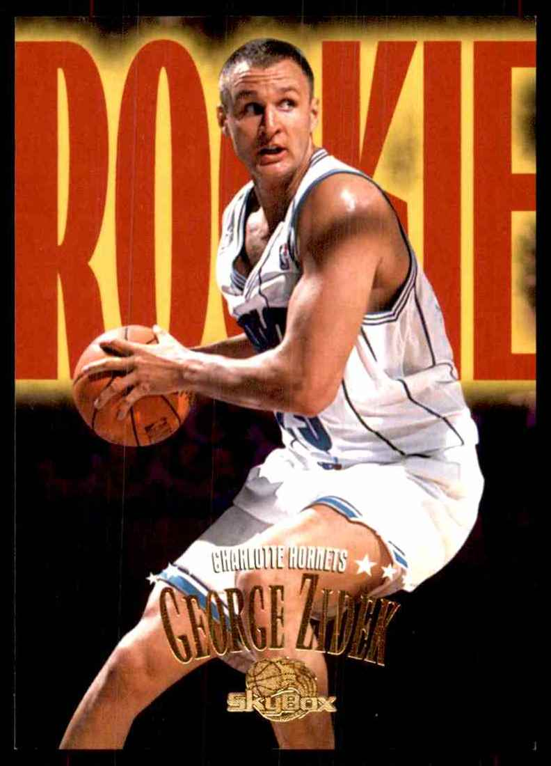 1995-96 Skybox Premium George Zidek RC #221 card front image