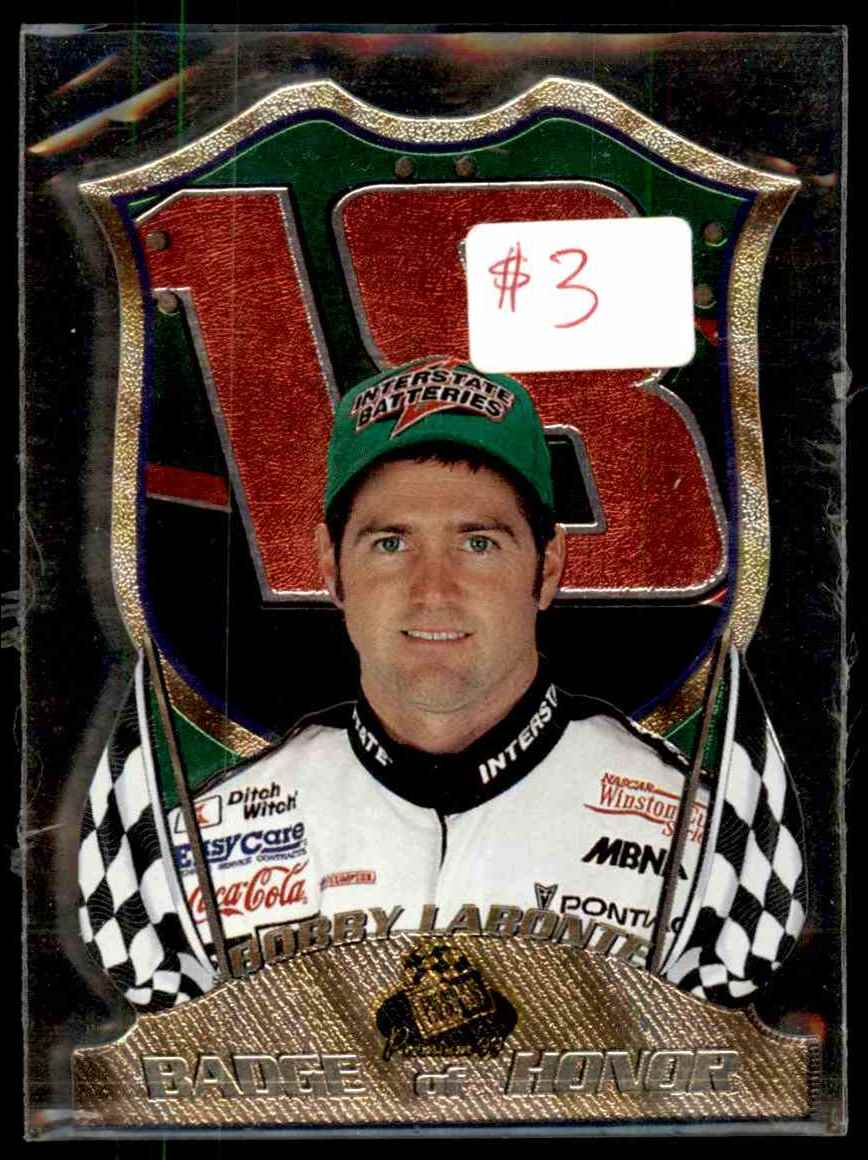1999 Press Pass Premium Badge Of Honor Bobby Labonte #BH9 card front image