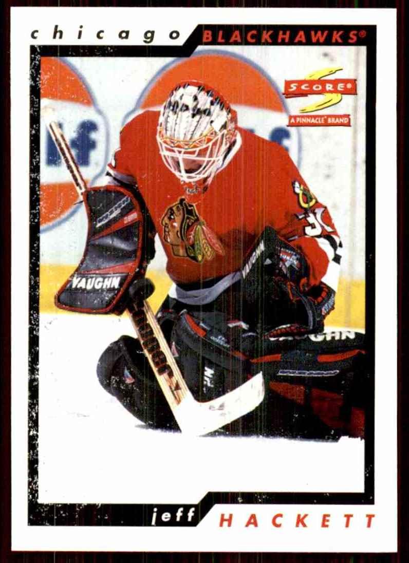1996-97 Score Jeff Hackett #85 card front image
