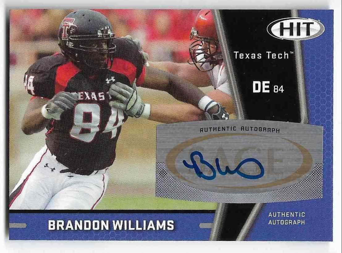 2009 Sage Hit Brandon Williams #A85 card front image
