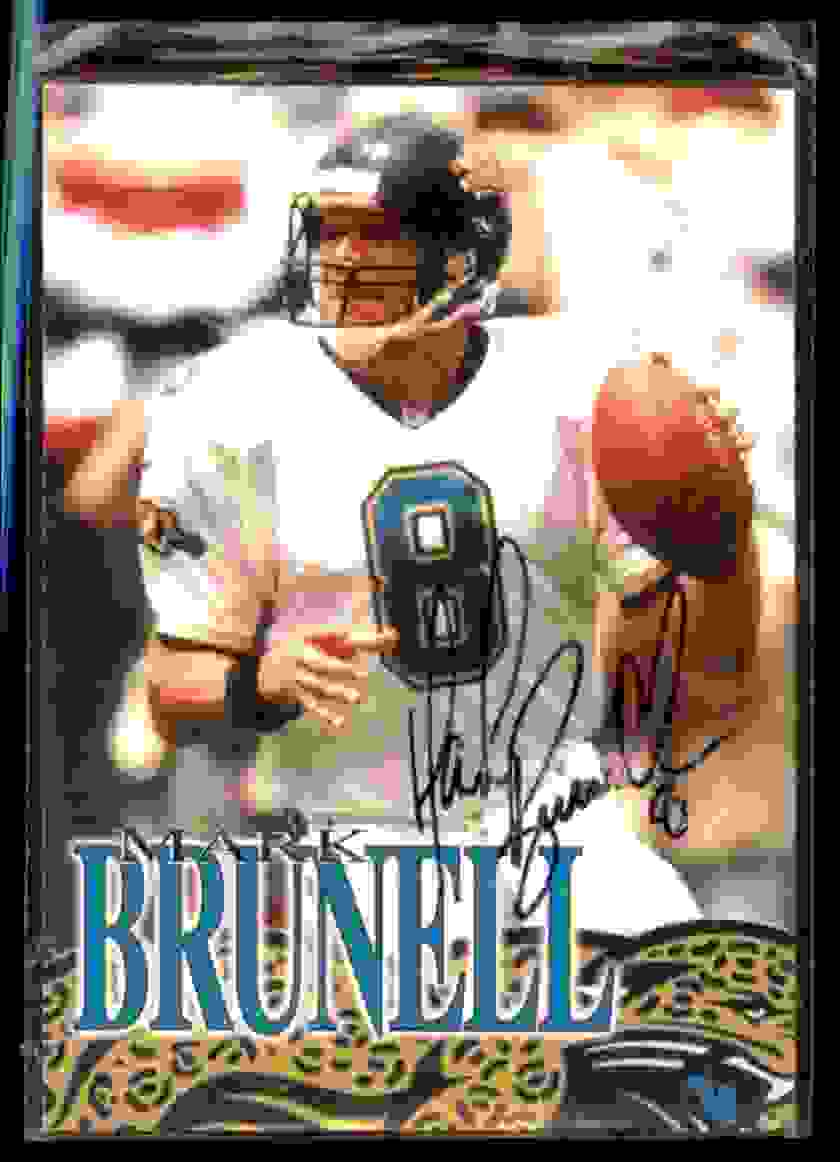 1997 Mark Brunell Tracard Mark Brunell #1 card front image