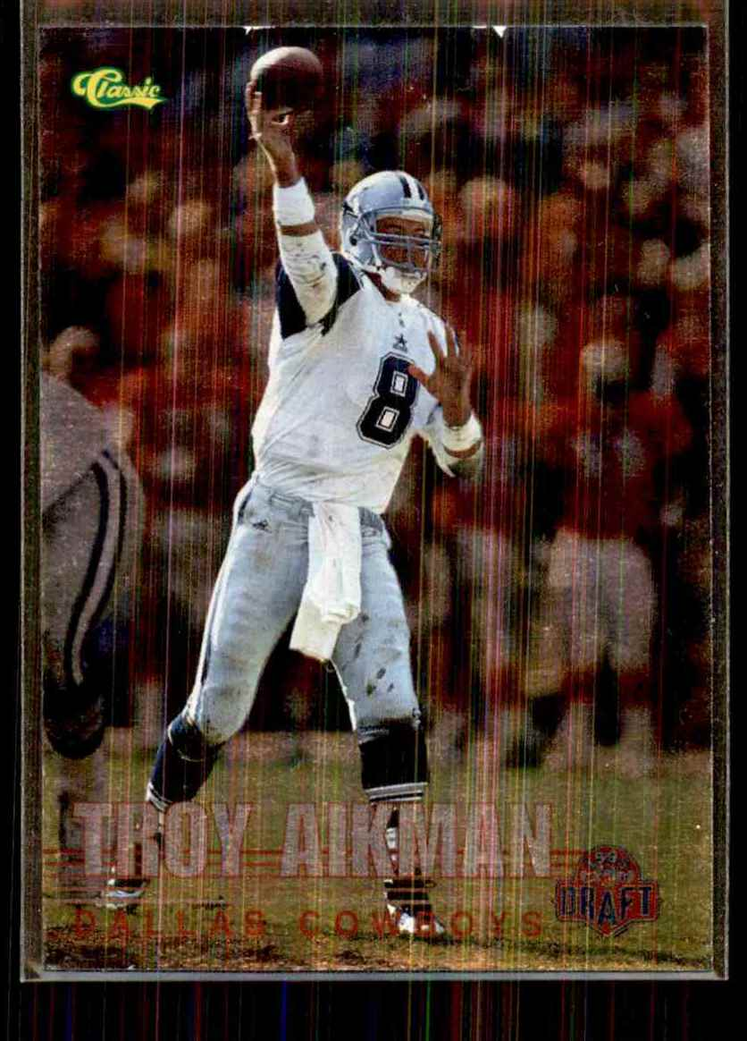 1995 Classic NFL Rookies Silver Troy Aikman #109 card front image