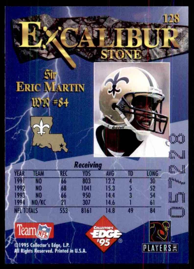 1995 Excalibur Eric Martin #128 card back image