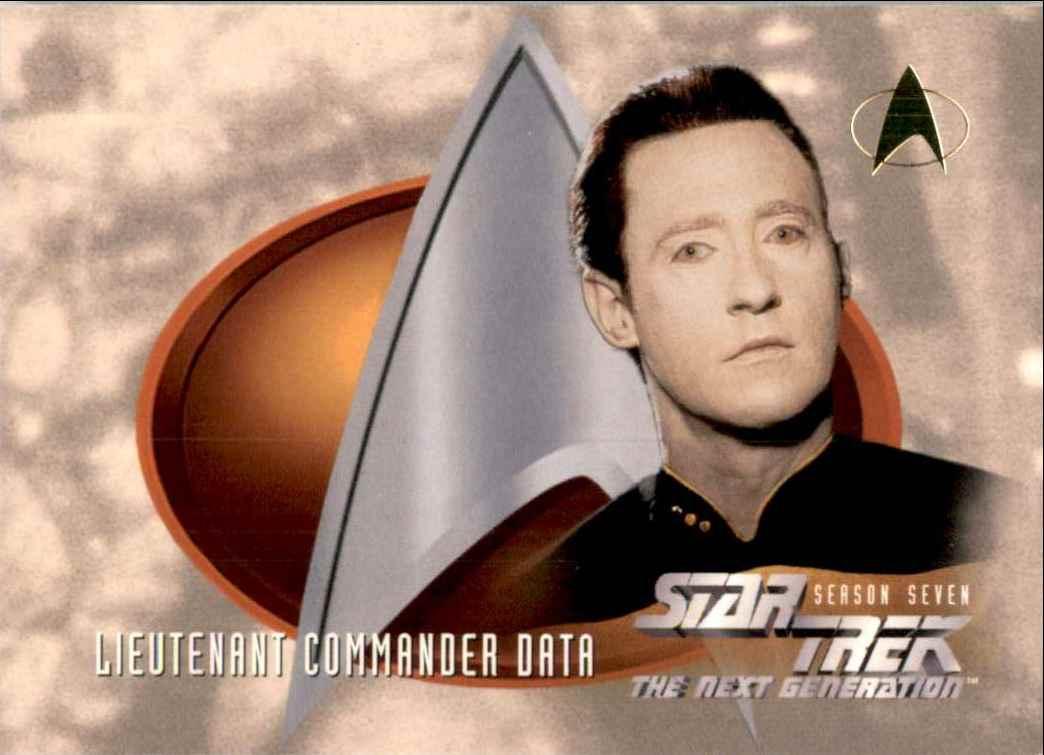 1994 Star Trek The Next Generation Episode Collection Lieutenant Commander Data #735 card front image
