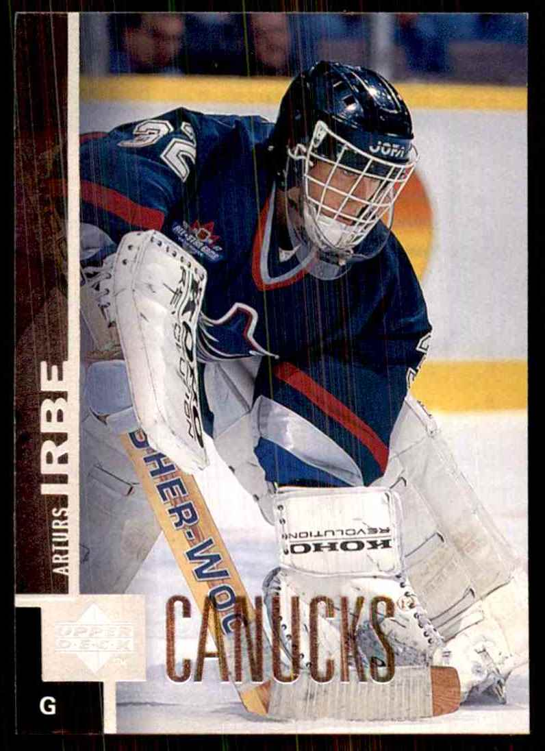 1997-98 Upper Deck Arturs Irbe #377 card front image