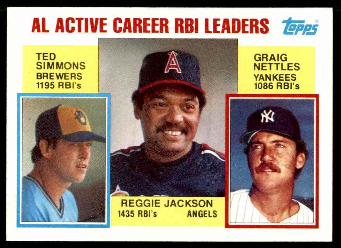 1984 Topps Reggie Jackson #713 card front image