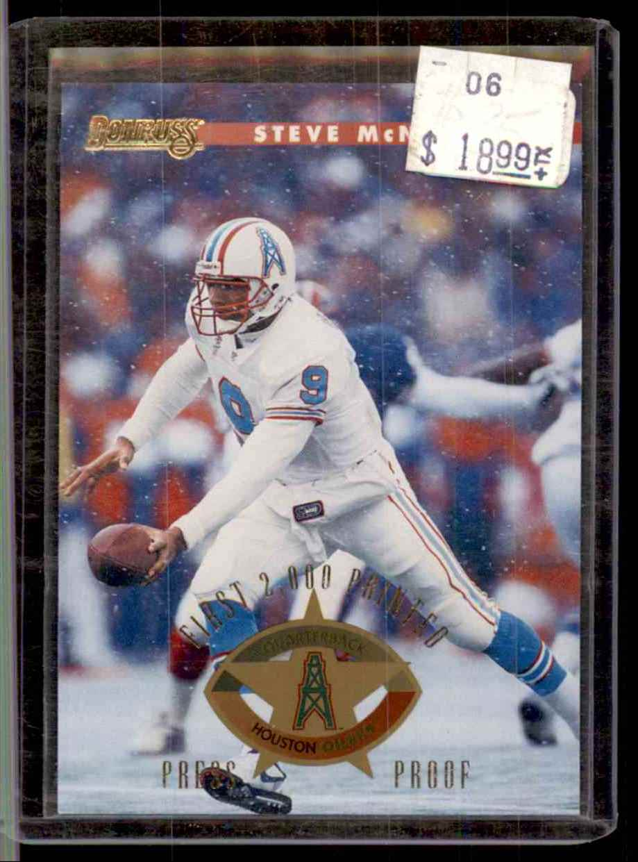 1996 Donruss Press Proofs Steve McNair #106 card front image